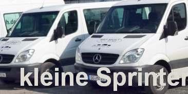 Sprinter kurz/flach - verfügbar als Transporter + 9-Sitzer  - bitte geben Sie Ihren Wunsch ein. Tarife gelten nur bei Onlinebuchung
